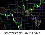abstract financial trading... | Shutterstock . vector #560417326