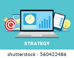 business strategy improving... | Shutterstock .eps vector #560422486