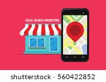 local search marketing ecommerce | Shutterstock .eps vector #560422852
