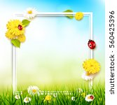 spring background with flowers... | Shutterstock .eps vector #560425396