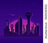 Future City Night Landscape...