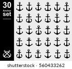 anchor set. vector | Shutterstock .eps vector #560433262