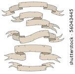 vector antique banners | Shutterstock .eps vector #56043445