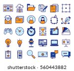 outline vector icons for web... | Shutterstock .eps vector #560443882