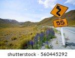 Yellow Traffic Signpost On...