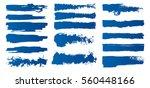 set of hand painted brush... | Shutterstock .eps vector #560448166