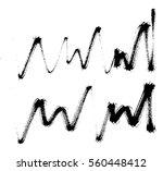 vector set of grunge brush... | Shutterstock .eps vector #560448412