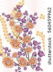 beautiful floral print design | Shutterstock . vector #560459962