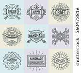 handmade craft insignias... | Shutterstock .eps vector #560473816