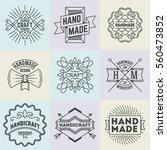handmade craft insignias... | Shutterstock .eps vector #560473852