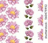 floral pattern of lotus flowers | Shutterstock .eps vector #560475952