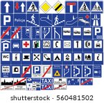 road signs in poland.... | Shutterstock .eps vector #560481502