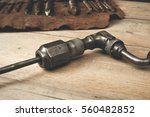 drill brace with bits in... | Shutterstock . vector #560482852