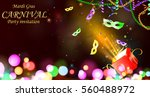 open gift box with traditional...   Shutterstock .eps vector #560488972
