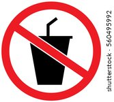 no drink prohibited sign | Shutterstock .eps vector #560495992