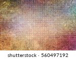 abstract blended texture... | Shutterstock . vector #560497192