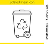 recycle bin linear icon.... | Shutterstock .eps vector #560499136