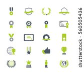 award and honor icon set | Shutterstock .eps vector #560505436
