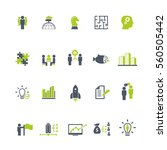 business training icon set | Shutterstock .eps vector #560505442