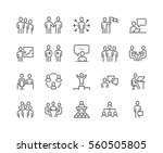 simple set of business people... | Shutterstock .eps vector #560505805