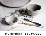 making ceramic dishes. working... | Shutterstock . vector #560507212