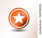 Star Icon In Flat Design...