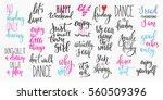 lettering photography overlay... | Shutterstock .eps vector #560509396