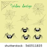 set of spider web and cartoon... | Shutterstock .eps vector #560511835