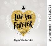 valentine's day hand drawn... | Shutterstock .eps vector #560516716