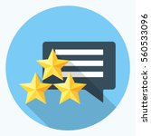 feedback and rating flat icon | Shutterstock .eps vector #560533096
