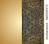 vector background with gold... | Shutterstock .eps vector #560539372