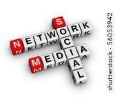 Social Media Network (from crossword series) - stock photo