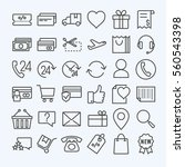e commerce  line icons set | Shutterstock .eps vector #560543398