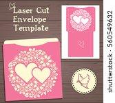 lazercut vector wedding... | Shutterstock .eps vector #560549632