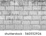 old concrete block wall... | Shutterstock . vector #560552926