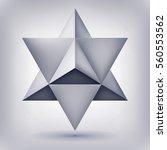 merkaba  3d crystal  geometry... | Shutterstock .eps vector #560553562