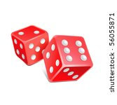 vector red dice | Shutterstock .eps vector #56055871