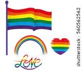 vector gay pride design... | Shutterstock .eps vector #560562562