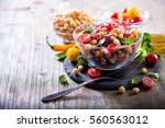 healthy homemade chickpea and... | Shutterstock . vector #560563012