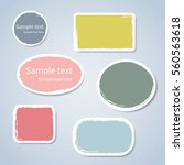 the colored paper stickers... | Shutterstock .eps vector #560563618