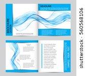 vector modern business brochure ... | Shutterstock .eps vector #560568106