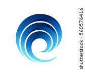 wave logo | Shutterstock .eps vector #560576416