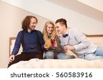 friends laughing   young people ... | Shutterstock . vector #560583916