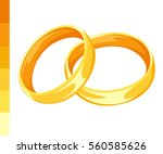 set of vector ring illustration ...   Shutterstock .eps vector #560585626