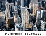 aerial view of buildings in mid ... | Shutterstock . vector #560586118