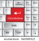 computer keyboard with click me ... | Shutterstock .eps vector #560589322