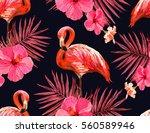 beautiful seamless vector... | Shutterstock .eps vector #560589946