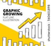 graphic growing up. economic....   Shutterstock .eps vector #560601898