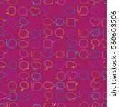 speech bubbles seamless pattern | Shutterstock .eps vector #560603506