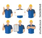 set icons builder with various... | Shutterstock .eps vector #560608468